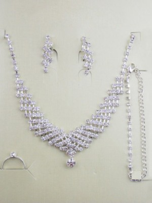 Alloy med Dekorationsstenars Wedding Bridal Juvelry Set