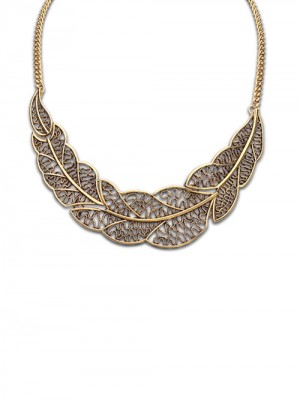 Occident Foreign Orders Enkel Hollow Tree Leaf Halsband