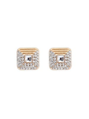 Occident Exquisite Dekorationsstenar Stud Earrings