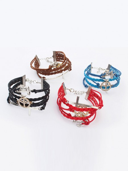 Occident Retro Anchor Cruciate woven Armband