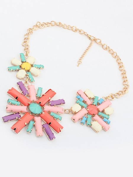 Occident Hyperbolic Colorful Blomma Halsband