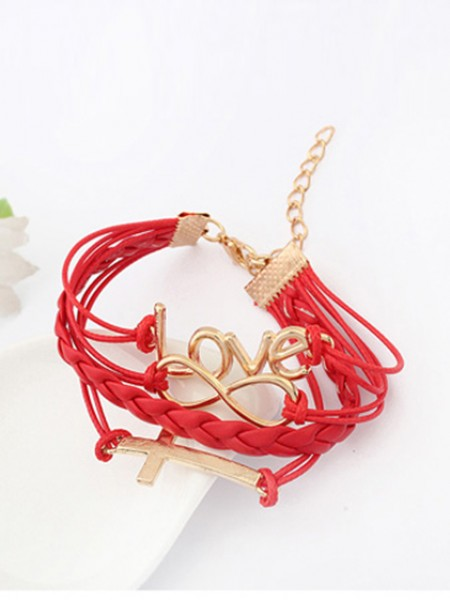 Korean version Romantic Password love Cross Armband