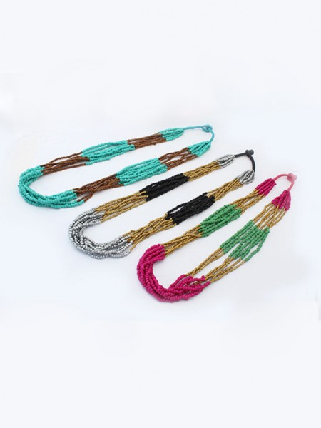 Fashion Trends Occident Exotic Multi-layered Seed Halsband