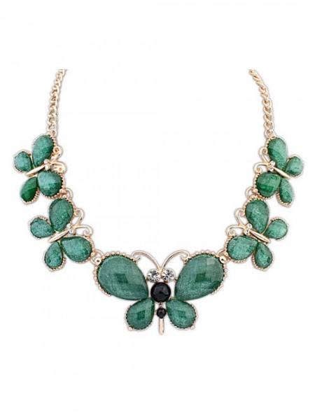 Occident Snygg Butterfly New Temperament Halsband
