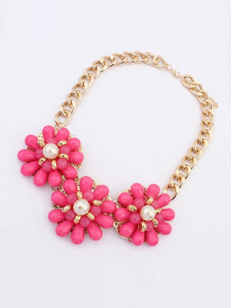 Occident Candy colors Fresh Big Blomma Halsband